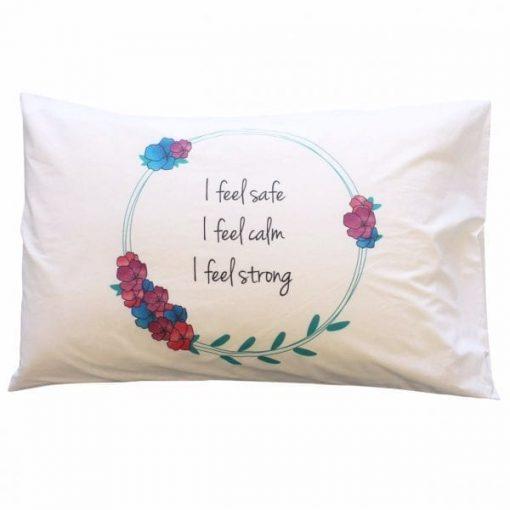 flower crown affirmation pillowcase