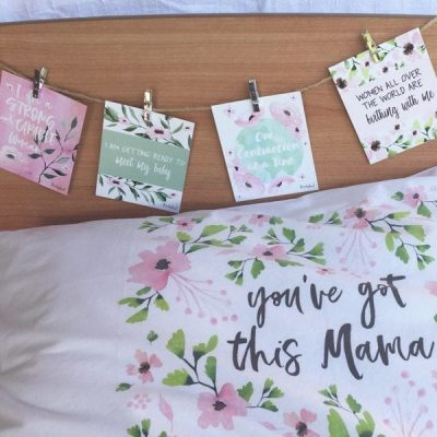 pink blossom birth affirmations