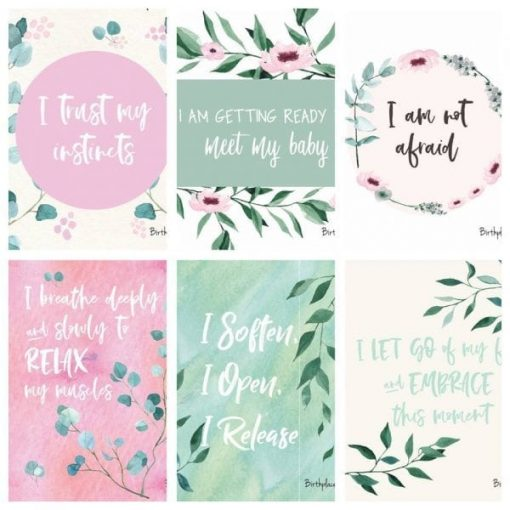 pink blossom birth affirmations