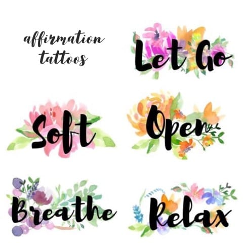 Affirmation Temporary Tattoo Birth Affirmation