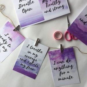 Purple Skies Birth Affirmations