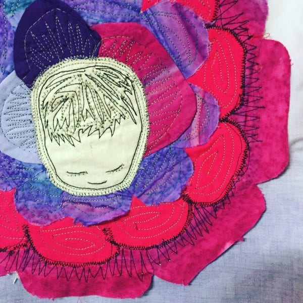 Opening and coming down- Textile Art by Birthplace