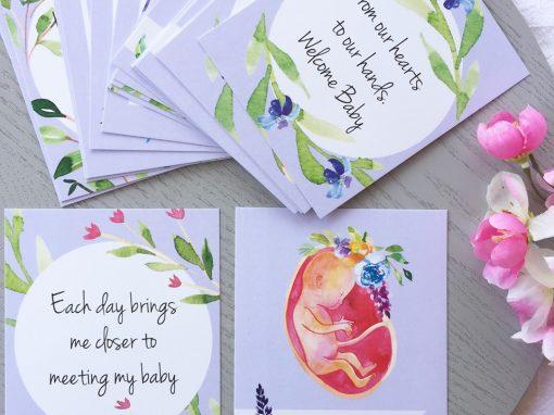 floral pregnancy affirmations