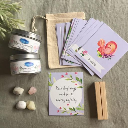 Pregnancy Gift Box Candles and crystals