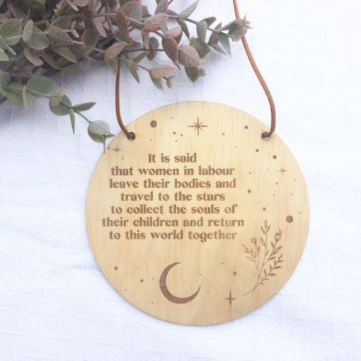 wooden birth quote