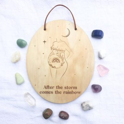 Rainbow Baby Wooden Sign