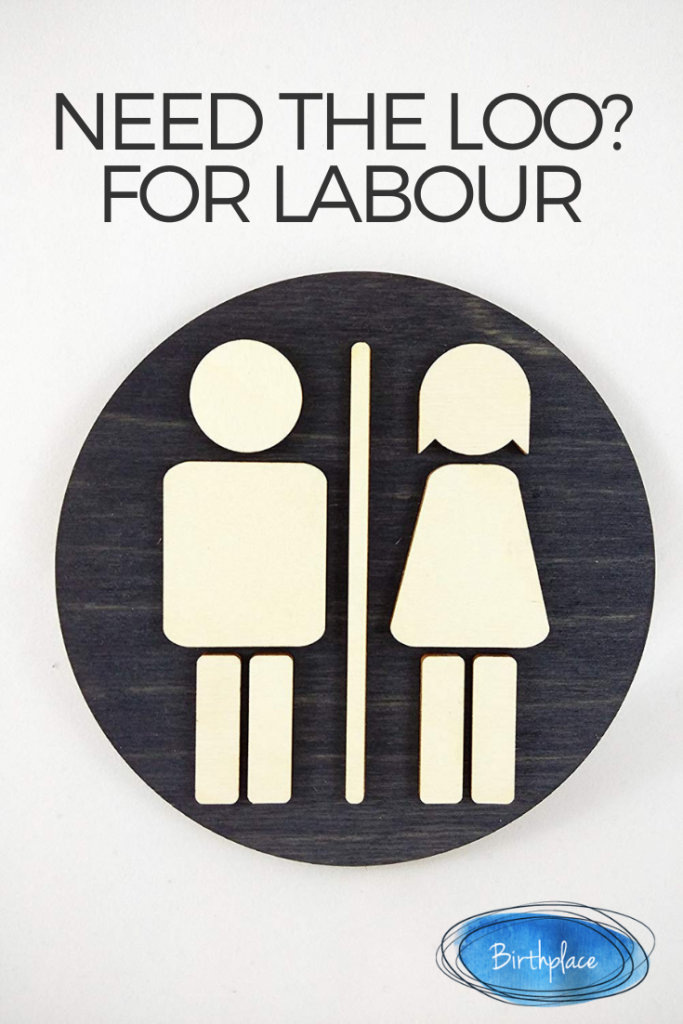 Using the toilet for labour