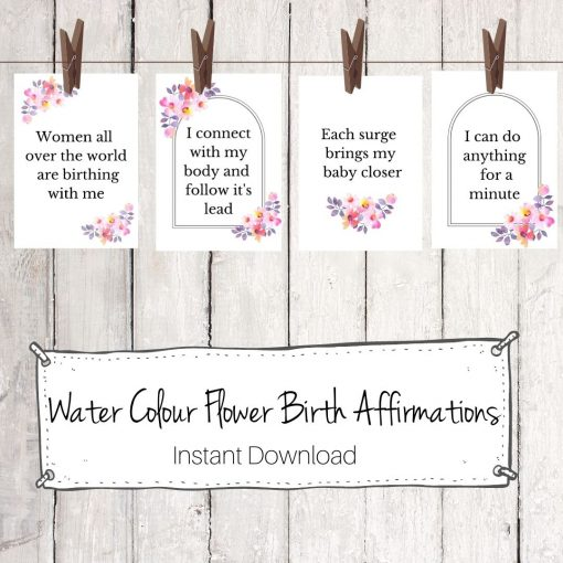 Water Colour Birth Affirmations Digital