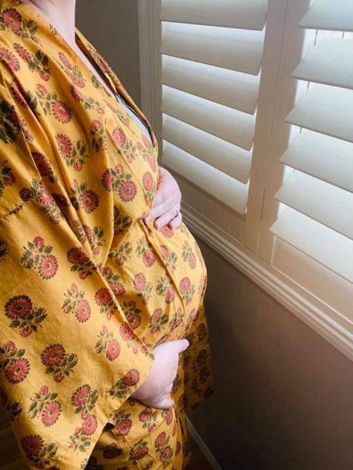 birth postpartum gown